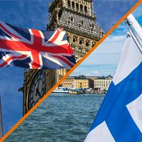 Illustrasjon: England og Finland